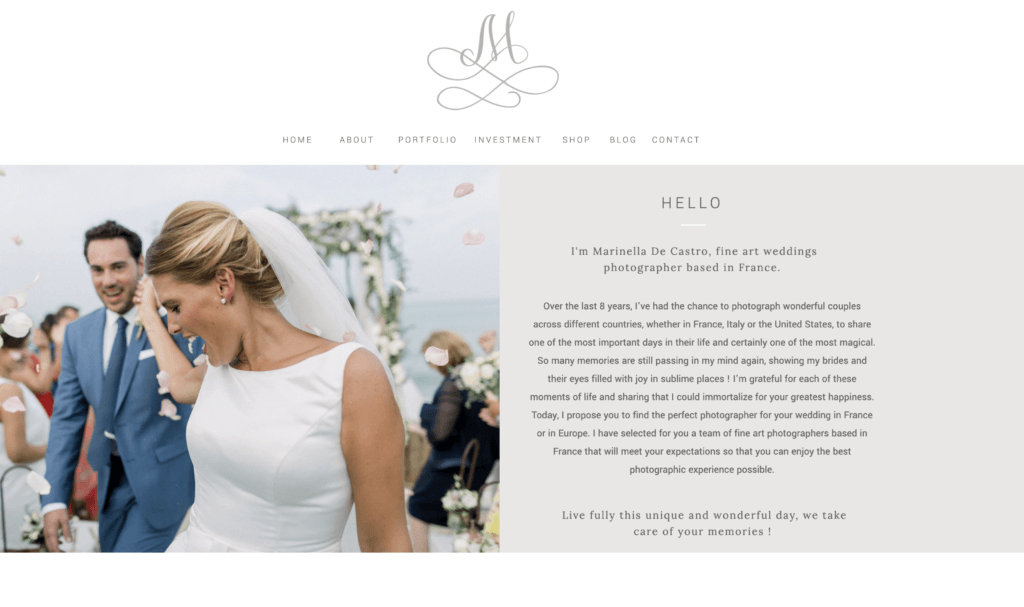 Team of wedding photographers in France